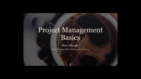 Thumbnail for entry Project Management Basics & WBS Refresher