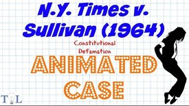 Thumbnail for entry NY Times v. Sullivan (Defamation) - Landmark Cases - Episode # 9