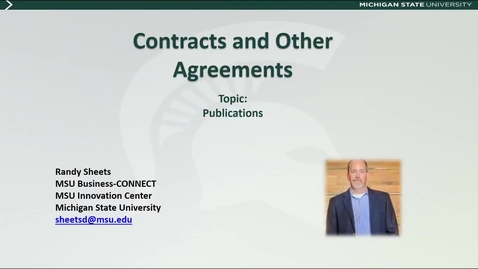 Thumbnail for entry Contracts and Other Agreements: Publications (R. Sheets)