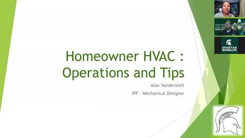 Thumbnail for entry IPF Home Improvement Series: Homeowner HVAC : Operations and Tips