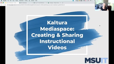 Thumbnail for entry IT Virtual Workshop - Creating and Sharing Instructional Videos (08.26.2021)