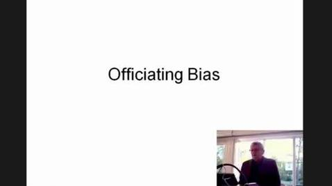Thumbnail for entry Officiating Bias