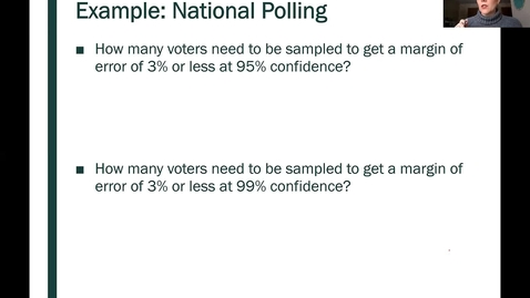 Thumbnail for entry STT 200 One Proportion Confidence Intervals, Part 6