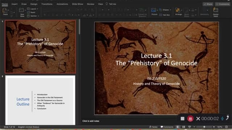Thumbnail for entry Lecture 3.1 - Part 1