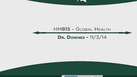 Thumbnail for entry HM815 MOD13GlobalHealth