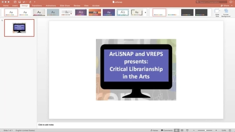 Thumbnail for entry ArLiSNAP VREPS 2017 Virtual Conference Q & A Session