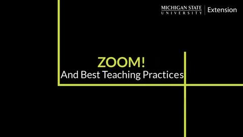 Thumbnail for entry Zoom and Best Teaching Practices