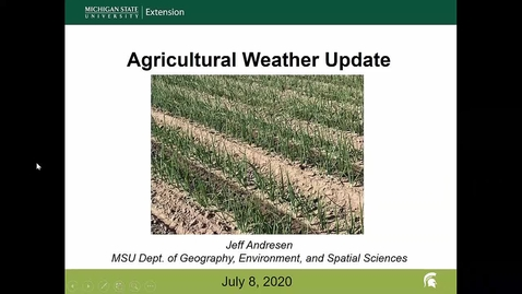 Thumbnail for entry Agricultural weather forecast for July 8, 2020