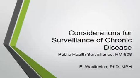 Thumbnail for entry Considerchronicdiseasesurveillance