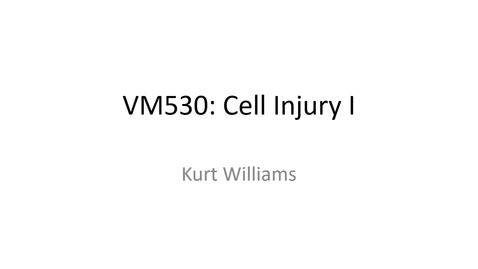 Thumbnail for entry VM 530-Cell Injury I