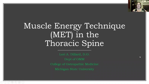 Thumbnail for entry MET in Thoracic spine - upper and lower, Type II and Groups