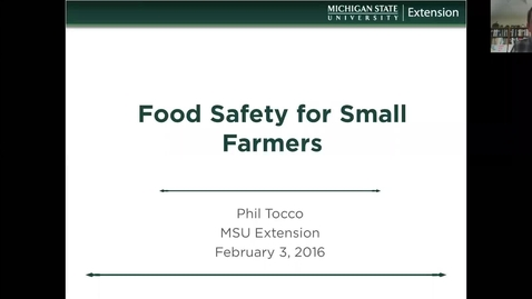 Thumbnail for entry The Food Safety Modernization Act   What you need to do