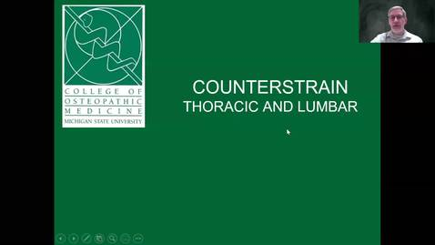 Thumbnail for entry Thorax and Lumbar Counterstrain Dx and TX Lecture