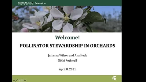 Thumbnail for entry Pollinator Stewardship in Orchards
