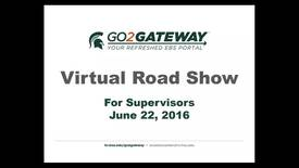 Thumbnail for entry Virtual Road Show for Supervisors