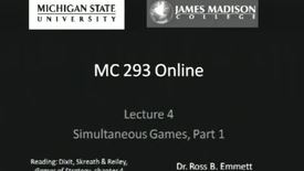 Thumbnail for entry Simultaneous Games, Lecture 1