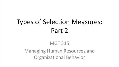 Thumbnail for entry 3.Types of Selection Measures.Part 2