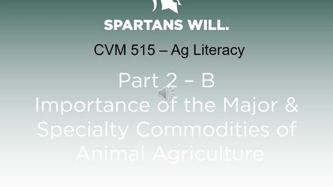 Thumbnail for entry VM 515-Part 2-B Sustainable FA Prod Systems