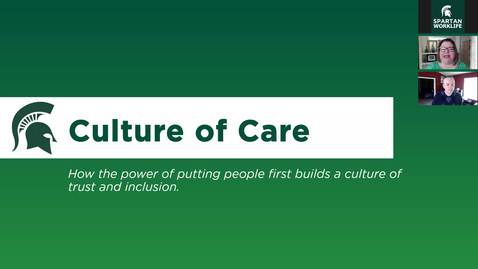 Thumbnail for entry Culture of Care