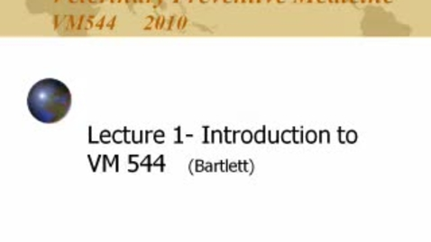 Thumbnail for entry VM_544_08312010_Intro__Bartlett__iPod
