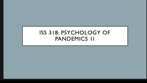 Thumbnail for entry ISS 318 4.Psychology II