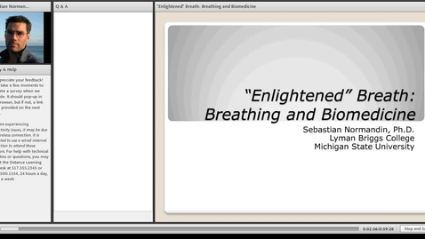 """Thumbnail for entry """"Enlightened"""" Breath: Breathing and Biomedicine"""