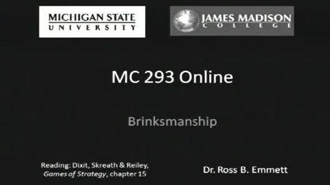 Thumbnail for entry Brinksmanship