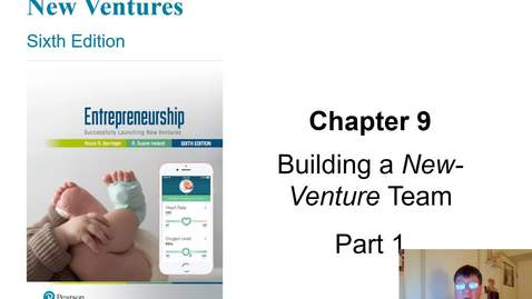Thumbnail for entry HB 358 Chapter 9 Building a New Venture Team Part 1