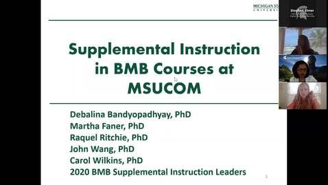 Thumbnail for entry 06.10.2020b Virtual Orientation - Supplemental Instruction