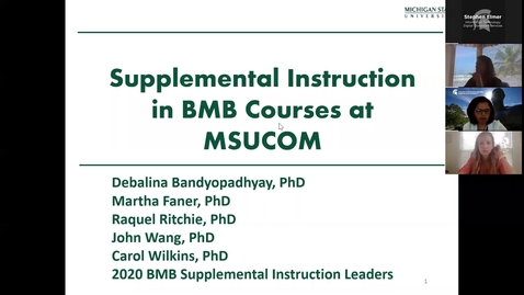Thumbnail for entry 06.10.2020b Virtual Orientation - Supplemental Instruction