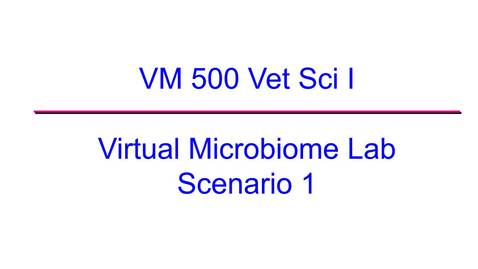 Thumbnail for entry VM 500-Virtual Microbiome Lab 2020 Scenario 1