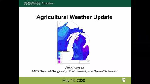 Thumbnail for entry Agricultural weather forecast for May 13, 2020