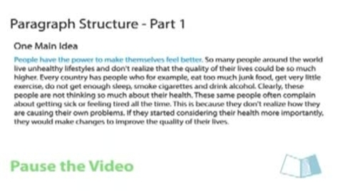 Thumbnail for entry Paragraph Structure
