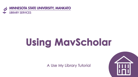 Thumbnail for entry Using MavScholar