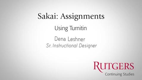 Thumbnail for entry Using Turnitin