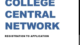 Thumbnail for entry How to Create an Account on College Central Network (Career Center Job Board)