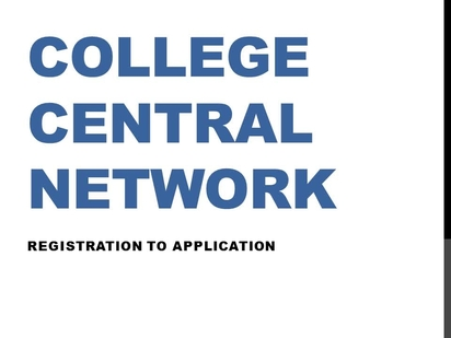 b9cefa31980 Video thumbnail for How to Create an Account on College Central Network  (Career Center Job