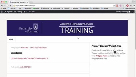 Thumbnail for entry Wordpress Tutorial - Add Tables using Shortcodes Ultimate