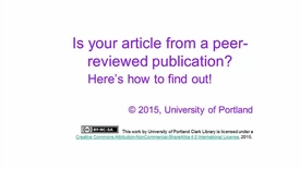 Thumbnail for entry Peer Review: What it is & How to Find Peer-Reviewed Articles