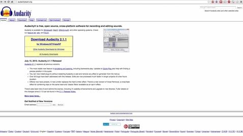 Thumbnail for entry Audacity on Mac: Install Audacity