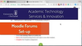Thumbnail for entry Moodle Forums: Basic Set-Up