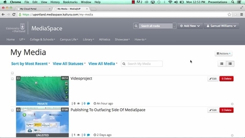 Thumbnail for entry MediaSpace - Changing publish option from private to unlisted