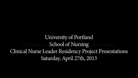 Thumbnail for entry CNL Student Residency Presentation - Moyes