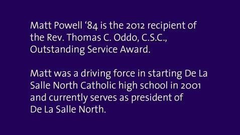 Thumbnail for entry Matt Powell Alumni Awards Slideshow