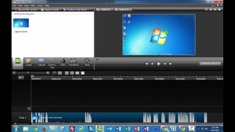 Thumbnail for entry Camtasia Studio 8 - Edit