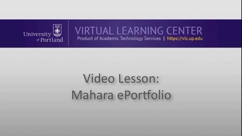 Thumbnail for entry Mahara ePortfolio: Building an ePortfolio Page pt 2