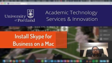 Thumbnail for entry Install Skype for Business on a Mac