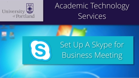 Thumbnail for entry Skype for Business: How to Schedule an Online Meeting