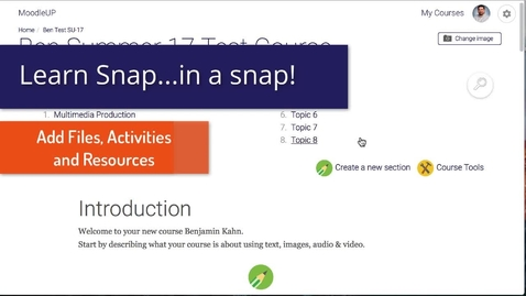 Thumbnail for entry Snap Theme: Add Files, Activities, and Resources
