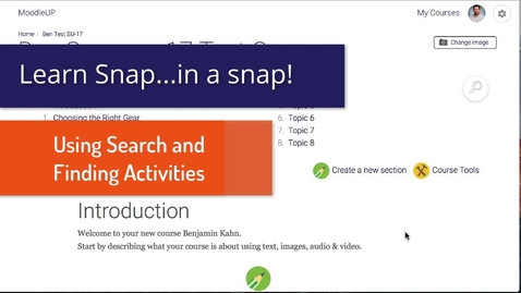 Thumbnail for entry Snap Theme: Using Search and Finding Activities